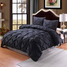 solid black duvet quilt cover twin queen king size pillow case plain bedding set new