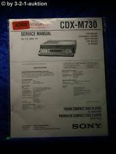 cdx m730 in sound vision sony service manual cdx m730 cd player 4268