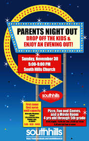 Flyers For Fundraising Events Parents Night Out Colourful Flyer Poster Flyers Fundraising