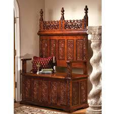 antique foyer furniture. Antique Foyer Furniture Decor Bench Vintage Seat Small Entryway