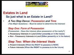 Slide Set Fourteen Real Property Interests In Land Time