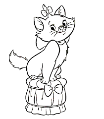 Small Picture Cartoon Coloring Pages For Girls Cats Cartoon Coloring pages of