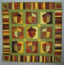 Autumn Quilt Patterns to Keep You Warm This Fall & Acorn throw quilt Adamdwight.com