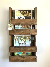 Elegant Magazine Holder Best Pottery Barn Magazine Rack Elegant Magazine Rack In Rustic With 32