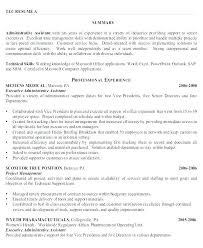 Resume For Administrative Position Gorgeous Resume Samples Administrative Assistant Resume Examples For