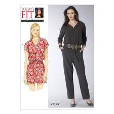 Jumpsuit Pattern Vogue Simple VOGUE SEWING PATTERN MISSES JUMPSUIT TODAYS FIT BY SANDRA BETZINA V48