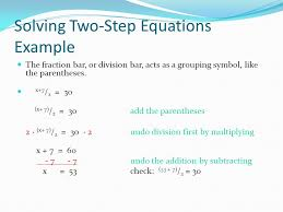 solving two step equations example