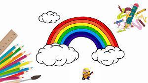 Đồ chơi sắc màu : Vẽ cầu vồng, tô màu cầu vồng - Minion voices #Rainbow  #coloring #minion   Minion, Cầu vồng, Drawing