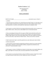 Rental Agreement Raider Aviation