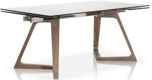 meridian walnut and smoke grey axel extendable dining table main image