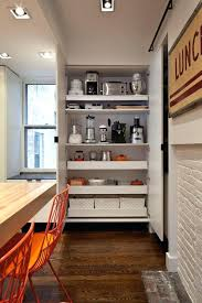 full image for pull out shelving in kitchen cabinets for storing appliances and pantry items architect