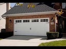 double garage door with pedestrian access