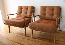full size of chair furniture tufted brown mid century with wooden flooring and white wall plus
