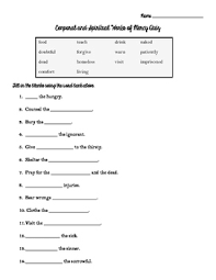works of mercy worksheet corporal and spiritual works of mercy worksheet and quiz by fill