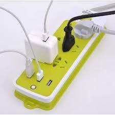 Ổ Cắm Điện Xanh 9 Cổng-Ổ cắm điện đa năng có cổng USB-Ổ cắm điện 6 phích cắm  3 cổng usb-Ổ điện xanh đa năng chống giật