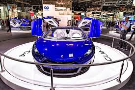 presentation of the green lord motors g4 concept during the paris motor show on october 5