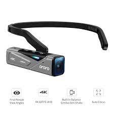 Vlog Video Kamera für YouTube Blogger, Ordro EP7 4K 60FPS Kopf Tragbare FPV  Digitale Camcorder Full HD, mit Gimbal Stabilisator|Consumer Camcorders