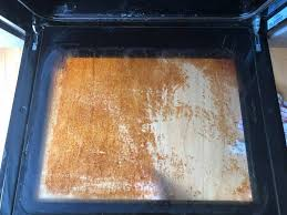 the oven is grotty and grimy in the first picture