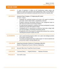 Engineering Assistant Sample Resume Assistant Project Engineer CV CTgoodjobs powered by Career Times 1