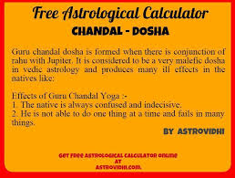 Chandal Yoga In Birth Chart Guru Chandal Dosha Is Formed When There Is Conjunction Of