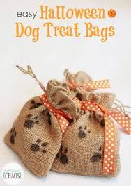 easy diy dog treat bags for trick or treating dogs this don