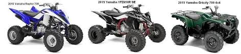 yamaha quads. at simi valley cycles, we offer sales on the yamaha atv, like utility grizzly or sports raptor 700r atv. quads