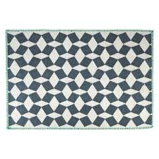 tiles small black and white wool rug 120 x 180cm promotion previous next