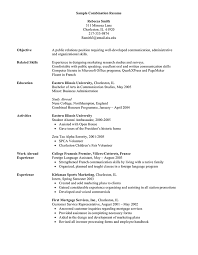 Sample Combination Resume Foreign Language Resume Example