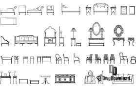 classic furniture cads blocks dwg