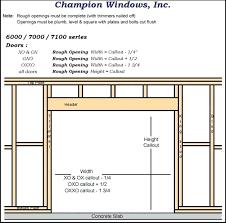 sliding closet door rough opening interesting framing closet door rough opening garage with opener for closet