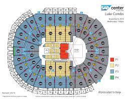 Luke Combs Seating Chart Luke Combs Sap Center
