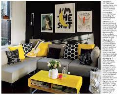 Yellow And Gray Living Room Entrancing Yellow Living Room Decor .png