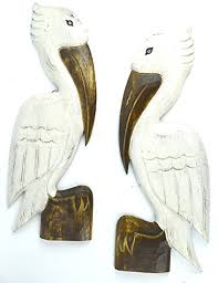 wooden pelican wall art