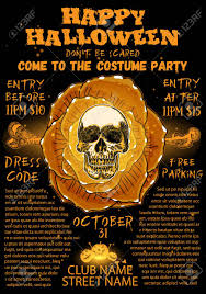 Halloween Costume Party Invitation And Greeting Card Flyer