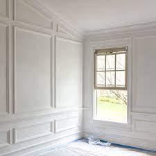 wall molding living room
