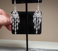 diy gorgeous chandelier earrings using premade rosary chain
