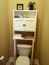 Black Over The Toilet Cabinet Small Bathroom Storage White Wooden Table White Ceramic Free