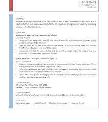 application developer resume. Mobile Application Developer Resume Senior Mobile App Developer