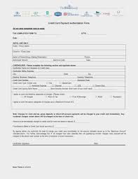 free hilton credit card authorization form pdf word eforms