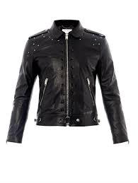 saint lau studded leather biker jacket