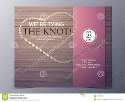 Tie The Knot Concept Wedding Invitation Card Vector Template Stock