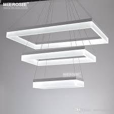 modern led chandelier lights acrylic 3 rectangles led suspension light lamp for living dinning room new singular chandelier drum pendant lighting plug in