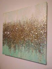 Handgemachte abstrakte Glitter Malerei <b>Custom Modern</b> Chic Home ...