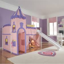 Children Bunk Bed With Slide Schoolhouse Princess ...