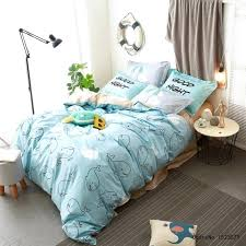 shark bedding set kids cartoon duvet cover panda penguin dolphin shark bedding set cotton sheet shark crib bedding set