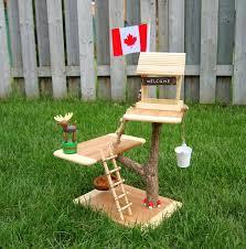 diy tree house toy easy diy cat tree house