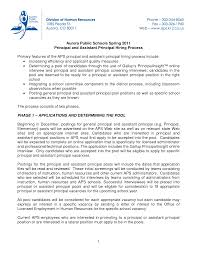 Sample Assistant Principal Cover Letter For Position Alluring Resume