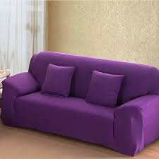 Purple 4 Size Stretch Fit Sofa Cover Couch Easy Removable Slipcover  Furniture Protector