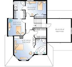 Compact Guest House Plan - 2101DR floor plan - 2nd Floor