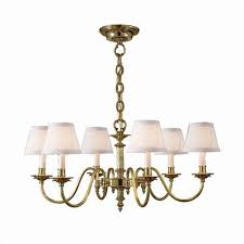 carlton six light chandelier with electric candles